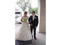 Wedding Dress Annais Bridal Janet size 10/12/14 plus veil