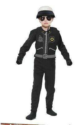 Boys Child MOTORCYCLE COP Policeman Deluxe Costume](Motorcycle Cop Costume)