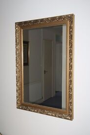 Gold ornate hall mirror
