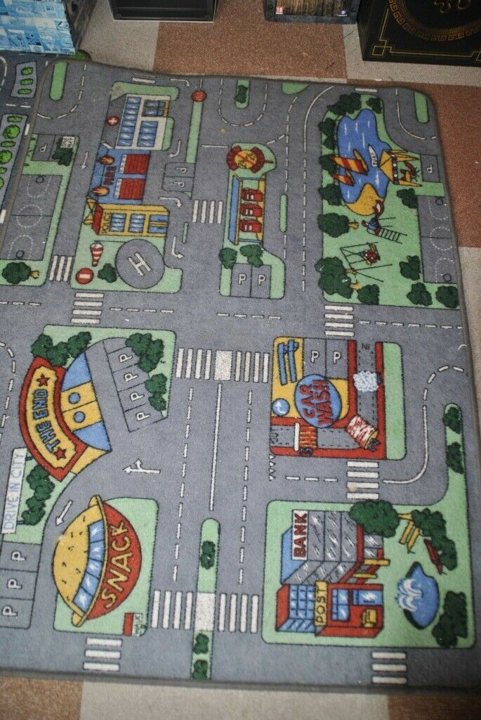 2 x children's street road map play rug carpet mat   in Plymouth, Devon Childrens Road Map Carpet on road map of africa, road map perseverance, road map busy bag, road map simple, road map strategy, road map design, road map clothing, road map generator, road map wallpaper, road map usa, road map painting, road map quilt, road map paper, road map fabric, road map maze, road map clock, road map bed, road map alaska, road map electrical, road map tiles,