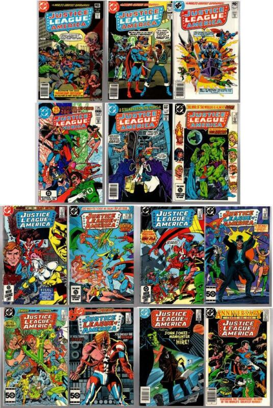 Bronze Age JUSTICE LEAGUE 14 issues #169-250