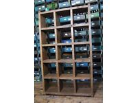PIGEON HOLES bookcase FREE DELIVERY solid reclaimed wood industrial rustic Brighton gplanera