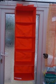 FIVE NEW IKEA HANGING STORAGE UNITS, RED, 2 BLACK, 2 ORANGE ONLY £13 ALL FIVE, CAN POST