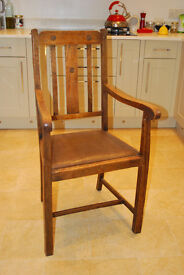 Solid Oak Chair - 2 Available