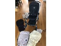 Bugaboo Bee Plus with Buggy Board, Sheepskin, Cup Holder, RainCover, Bamboo Seat Liner + New Parts
