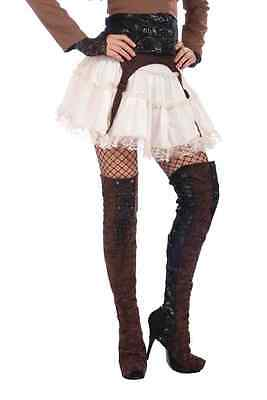 Steampunk Thigh High Boot Covers Victorian Science Fiction Cosplay fnt