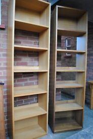 BOOKSHELVES: Habitat Oak. £40 each