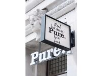 Pure: Kitchen Leader/Kitchen Manager for a healthy fast food store - up to 30k