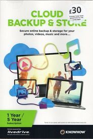 CLOUD BACKUP AND STORE - (2TB - 1 Year Subscription) NEW!
