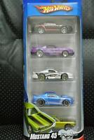 Hot Wheels set of 5 Ford Mustang