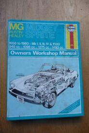 MG Midget & Austin Healey Sprite - Haynes manual