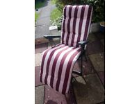 Sun Lounger With Thick Cushion