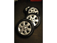 "Nissan Micra 15"" 4 Stud Alloys With Tyres 175/60/15 All 6mm Tread"