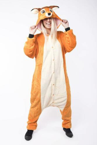 1ffad286506 ≥ Onesie Bambi kinder pak hert ree kostuum 128-134 hertenpak b ...