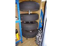 Set of Goodyear UltraGrip 165/70 R13 wintertyres on wheels for Corsa 'B' or similar