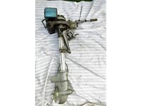 BRITISH ANZANI SUPER SINGLE VINTAGE OUTBOARD BOAT MOTOR - FOR REPAIR / SPARES