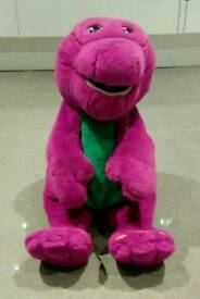 Large vintage 1997 interactive Barney