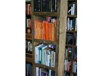 Pigeon holes bookcase one column reclaimed wood storage display salvage 1 col filler gplanera