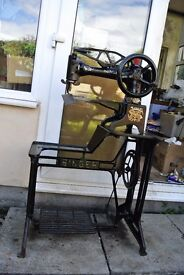 Singer 29K15 Cylinder Arm Boot Patcher/Cobblers Industrial Sewing Machine
