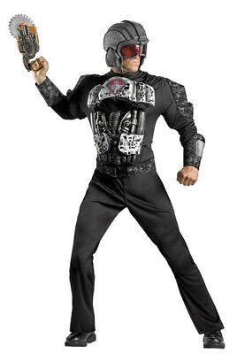 Herren Erwachsene Deluxe Chief Commando Militär Schwarz Tarnung - Herren Commando Kostüm