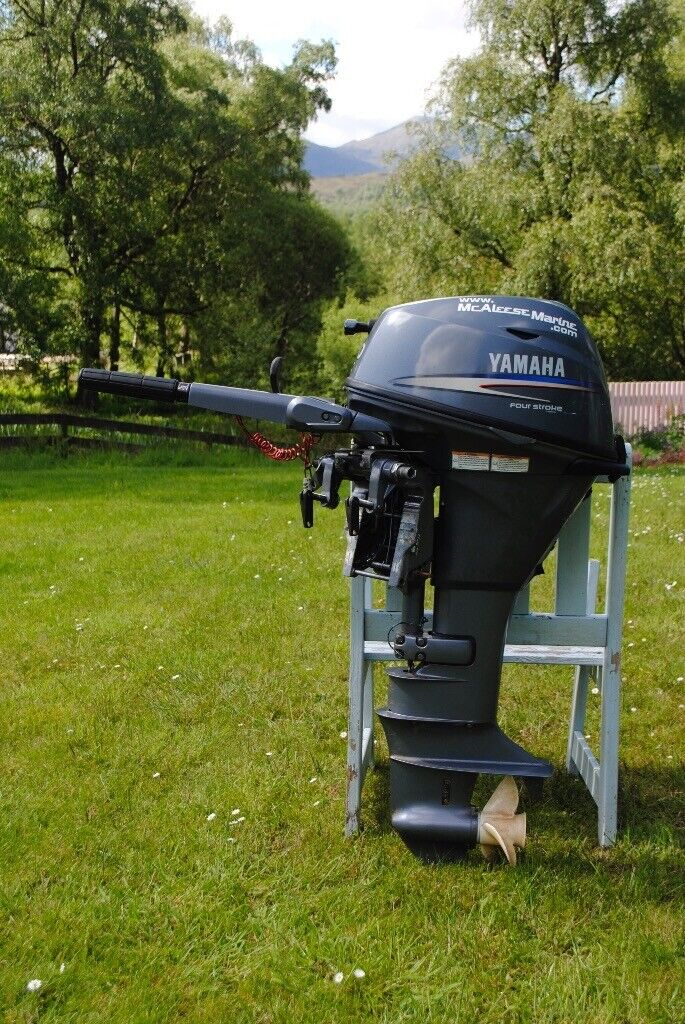 2008/9? YAMAHA 20HP 4 STROKE LONGSHAFT OUTBOARD ENGINE - INCLUDES FUEL TANK  | in Invergarry, Highland | Gumtree