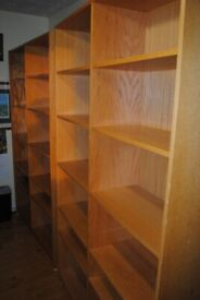 Free Two Wooden Bookshelves with adjustable shelving