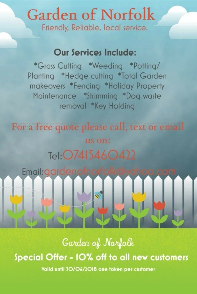 Garden of Norfolk - mowing, weeding, strimming, holiday property maintenance, makeovers and more
