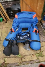 Float tube, fins and pump, as new little used ready to go for the new season.