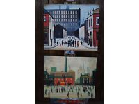Actual OIL PAINTING Lowry industrial canvas easy to hang: stick straight to wall decorative