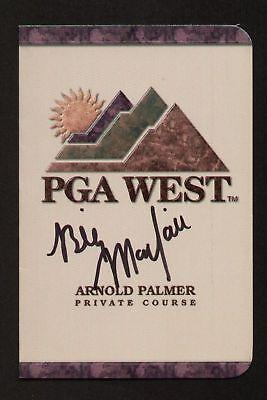 - Billy Mayfair signed autograph auto PGA West Scorecard