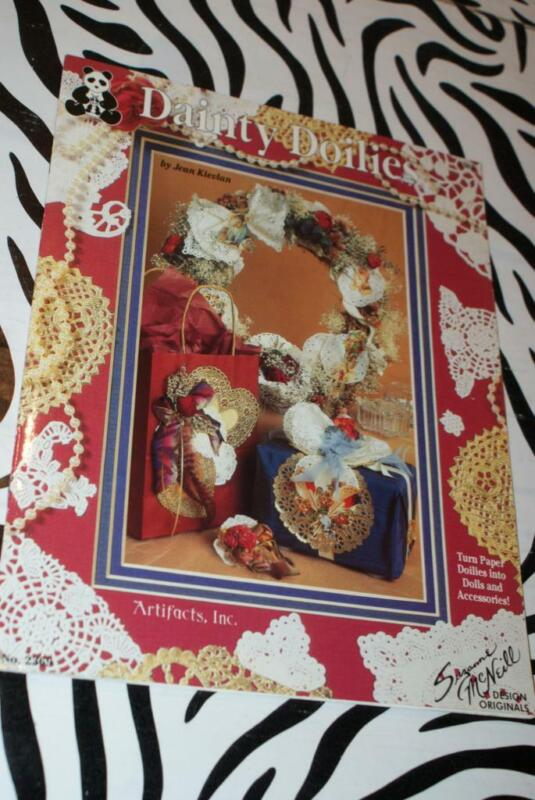 """Suzanne McNeill Design """"Dainty Doilies"""" Leaflet (Angels/Cardmaking/Wreath) 15pg"""