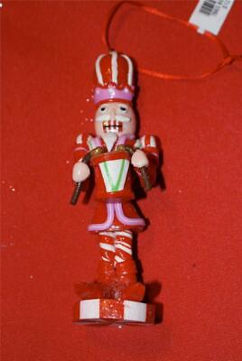 Martha Stewart Resin Nutcraker holding drum Christmas ornament ~New with tag!