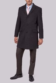 Men's Charcoal Epson Wool Coat - Worth £120 - Excellent condition