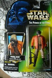 STAR WARS figure. The Power Of The Force. Ponda Baba Sealed 1997 Toy