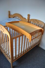 Mamas and Papas wooden cot top changer