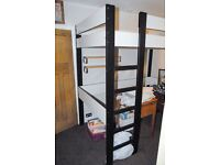 IKEA High Sleeper Loft Single Bed Black and White ( midi cabin bunk )