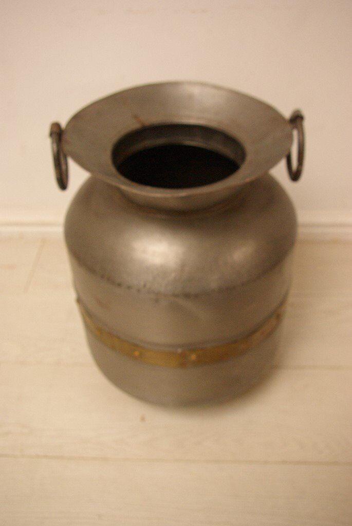 Beautiful antique vintage Indian metal storage pot