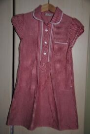 red school summer dress from NEXT age 5