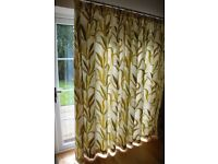 Large curtains in Prestigious Makari olive fabric