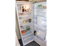SOLD: BEKO Upright tall larder fridge with water dispenser - TLD673AP silver - excellent condition