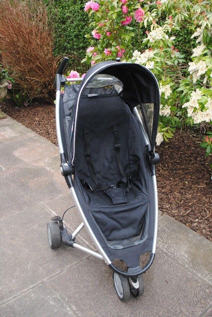 Quinny zapp pram black, very compact, good second/spare/grandparents pram