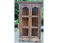 """Hand made """"Jali design"""" corner cupboard from Rajasthan India"""
