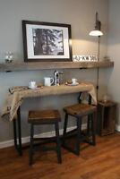 Reclaimed Wood & Iron Bar Stools $325 & Table $845 By LIKEN