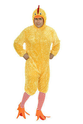 ADULT MENS YELLOW FUNKY CHICKEN BIRD FARM ANIMAL COSTUME ROOSTER COCK MASCOT](Farm Animal Costumes)