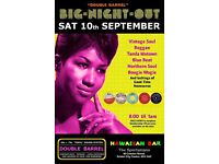 SATURDAY 10th September - 60s 70s SOUL / REGGAE / MOTOWN / SKA with DOUBLE BARREL - City Centre.