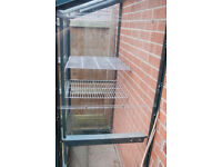 leanto greenhouse 4ft x 2ft tanalised aluminium in green