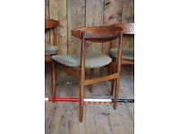 KOFOD LARSEN chairs x4 1962 afromosia teak & rosewood gold stamp mid century modern gplanera