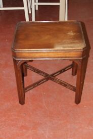 vintage sewing table with hidden drawer