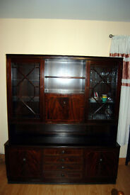 Dark Coloured Living, Dinning, Sitting room Dresser by Tru-Style Furniture For Sale £80 ono