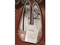 Esmara Ballerina Pumps Size 5 Bronze Brand New